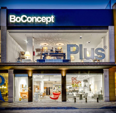 Front view of Plus Store and BoConcept